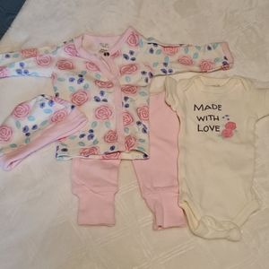 Touched by nature preemie layette set New organic